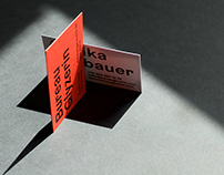 Bureau Glyzerin business cards
