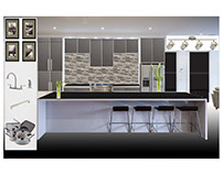 Sample Board for Kitchen Contemporary