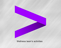 Accenture's wellness activities advertisements.