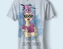 Creative something t-shirt , postcard and paper bag