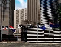 New Zealand Flag - Simulation