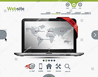 website template for business presentation