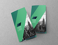 Clean Modern Green Blue Trifold