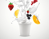 Advertising for famous dairy brand