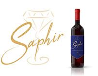 Saphir//Wine label branding