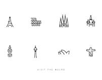 Visit the World - Icon Design