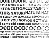 A custom brand Font family, Mogu Mogu.