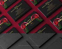 Black Business Cards Stacks Arranged in Rows PSD Mockup