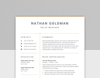 Clean One Page Resume 01