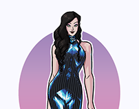 Asami Sato in Ezra Santos Dress - MS Paint
