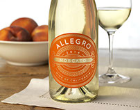 Allegro Moscato Wine Label & Packaging