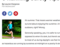 Active Article - Running Safety