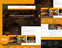 LawPass - Law Agency web template free psd