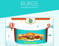 Burgs - Web Design, Art Direction