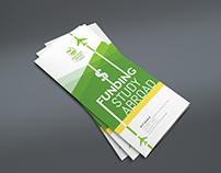 Study Abroad Leaflet Design