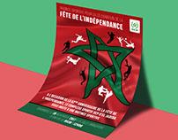 Flyer 62ème fête de l'indépendance Maroc - OCP