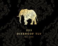 223 Dizengof Tel Aviv Bar Branding