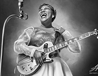 Sister Rosetta Tharpe Digital Art by Wayne Flint