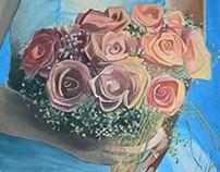 "Illustration ""Wedding Flowers"""