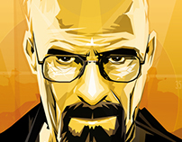 Breaking bad portrait walter white