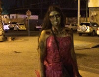 Zombie makeup Obstacle course