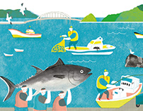 《Nanfangao》彩繪南方澳-蘭陽繪本創作營主視覺