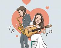 Caricatura Casamento - idCasar