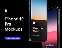 iPhone 12 Pro - 20 Mockups Scenes - PSD