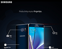 Samsung Galaxy Note 5 Flyer advertising concept.