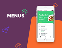 Menus. Food Ordering App