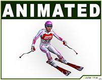 3D Model: Female Skier CG