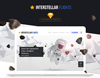Interstellar Flights | Spacetourism Brand Freebie