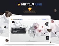 Interstellar Flights | Spacetourism Brand Freebie