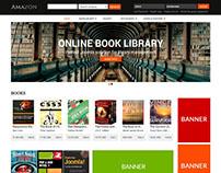 Amazon - Digital Library Website Template