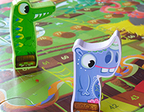 """Illustrated game  """"Jungle Snack"""""""