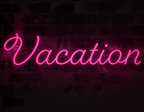 Vacation - Neon Sign