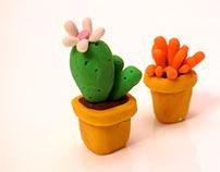 """Miniature cactus """"2017"""""""