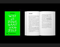 Book design: Wat je zegt, gaat vanzelf