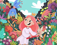 Flower shopping • Illustration•