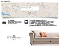 Furniture repair website design