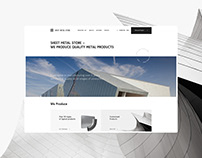 Sheet Metal Store - Quality Metal Products | UX / UI