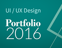 UI / UX and Graphic Design Portfolio — 2016