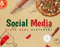 PIZZA ROME RESTURANT #social_media