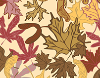 Fall Comes to Mapleville Pattern