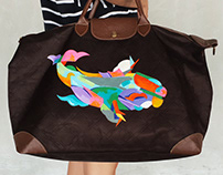 Longchamp Bag Painting