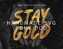 Stay Gold - SVG Font Duo