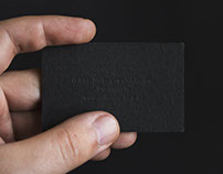 Blind embossed business card