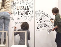 Timelapse of Upsala Event lettering