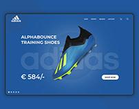 Adidas Store Redesign UI