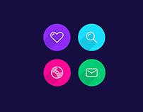 Flat Circle Icon Set